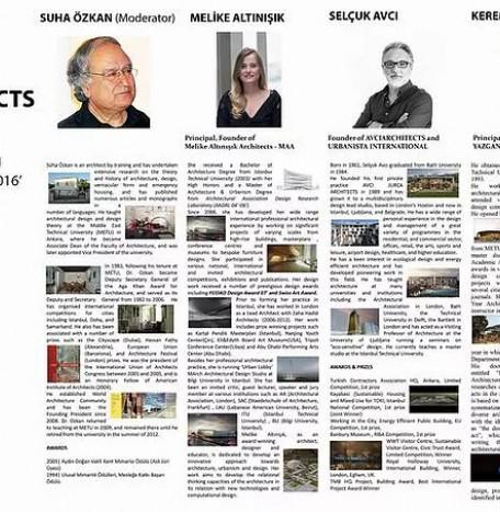 DCA 2016 European Architecture Turkish Architects Forum